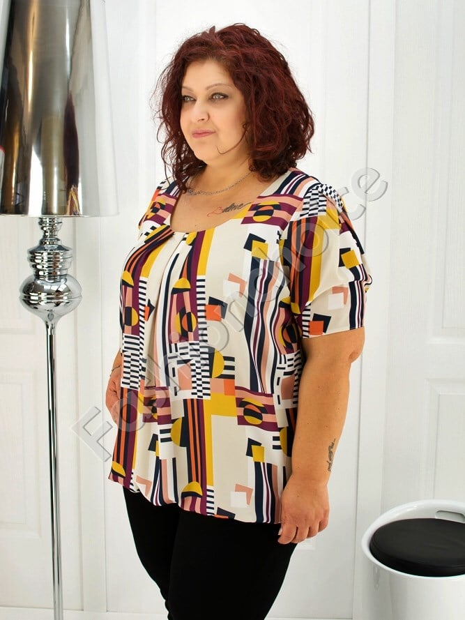 Дамска макси блуза с красиви абстрактни фигури- код 1989-1