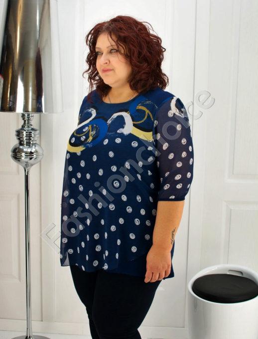 Дамска блуза с ефирен шифон- код 501-6020