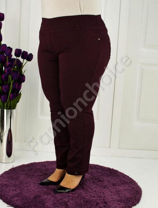 Дьмски макси клин-панталон в бордо-код 752-3438