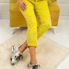 Дамски панталон с намачкан ефект- код 272-2481-2