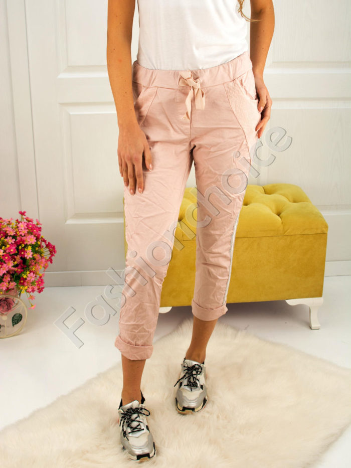 Дамски панталон с намачкан ефект- код 272-2481-1