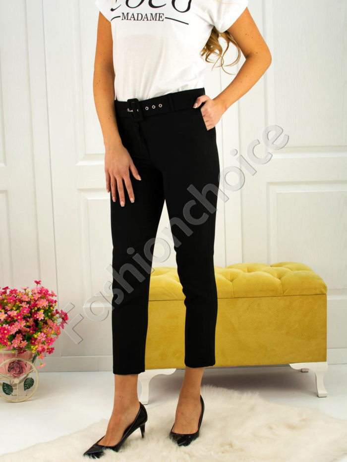 Дамски панталон с коланче- код 748