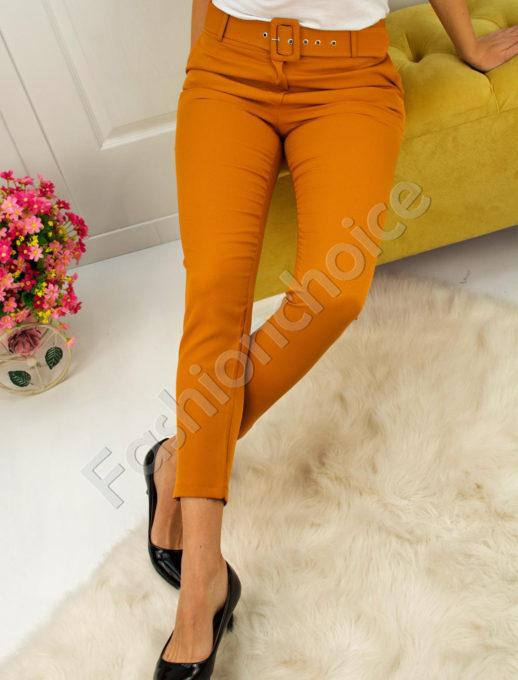 Дамски панталон с коланче- код 748-3