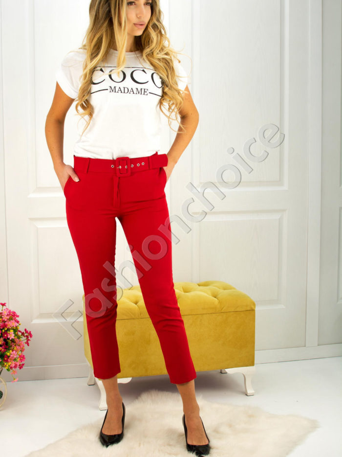 Дамски панталон с коланче- код 748-2