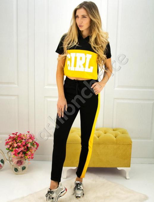 Дамски спортен екип GIRL с късо ръкавче- код 750-1