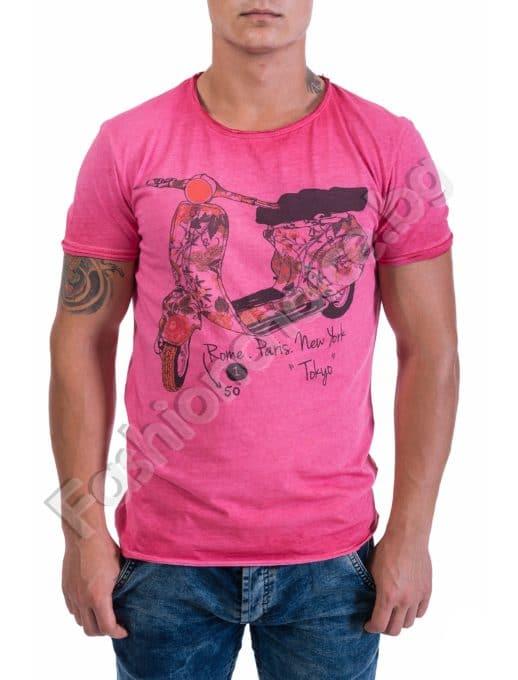 Лятна мъжка тениска с щампа Код 275-1