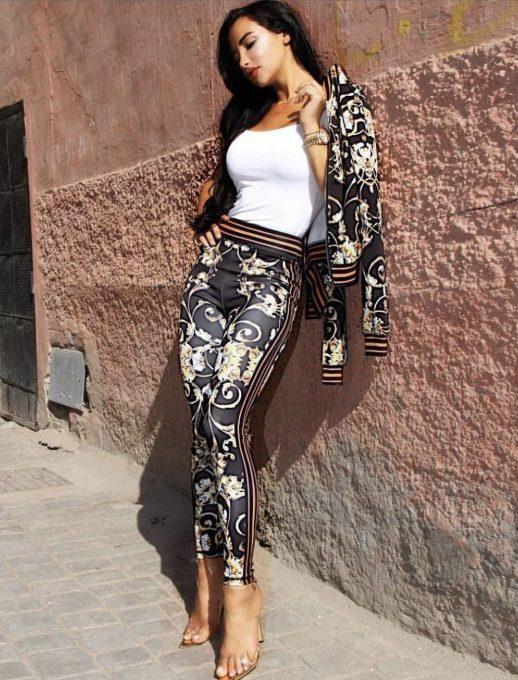 Дамски комплект от яке и панталон - код 716