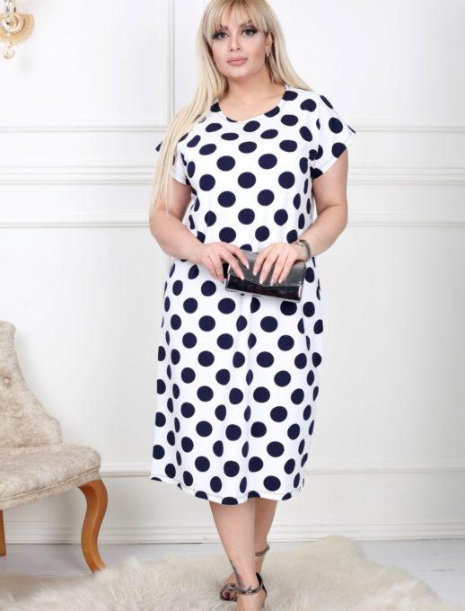 Дамска макси рокля на точки-код 741-1