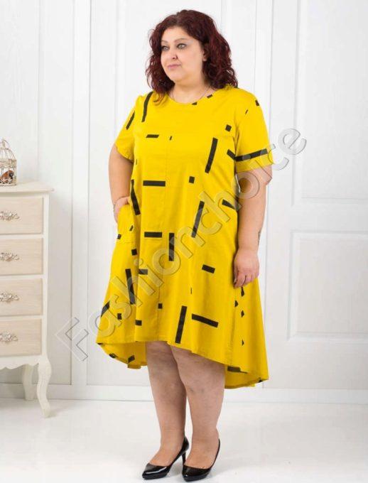 Макси рокля с издължена задна част в три цвята-код 529-18220