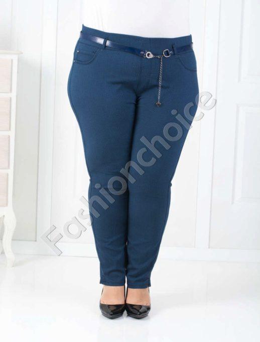 Дамски макси клин-панталон в цвят парламент/58-64/-код 752-1014-1