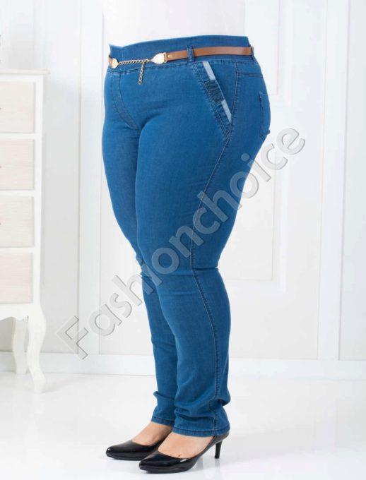Модерни дамски дънки тип клин/50-56/-код 752-1439