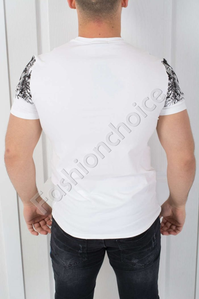 Мъжка тениска FREEDOM в бяло-код 542-3801Мъжка тениска FREEDOM в бяло-код 542-3801