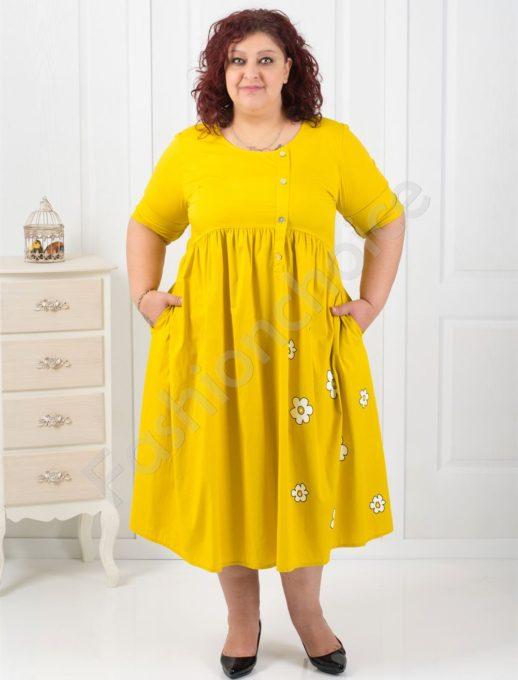 Свежа макси рокля с нежни цветенца/в четири цвята/-код 532-19556