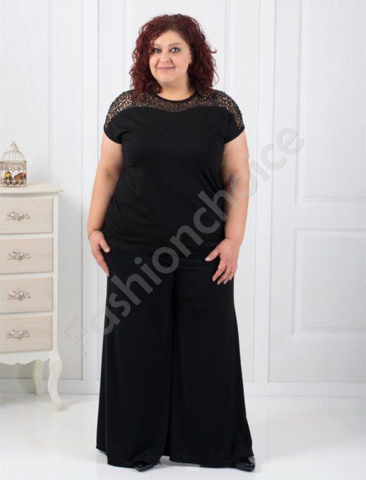Дамска макси пола-панталон в черно-код 538
