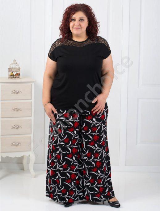 Дамска макси пола-панталон в красив цветен десен-код 539