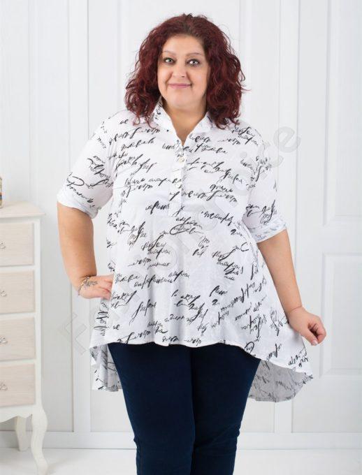 Свежа макси риза-туника от лен в два цвята-код 528-17595
