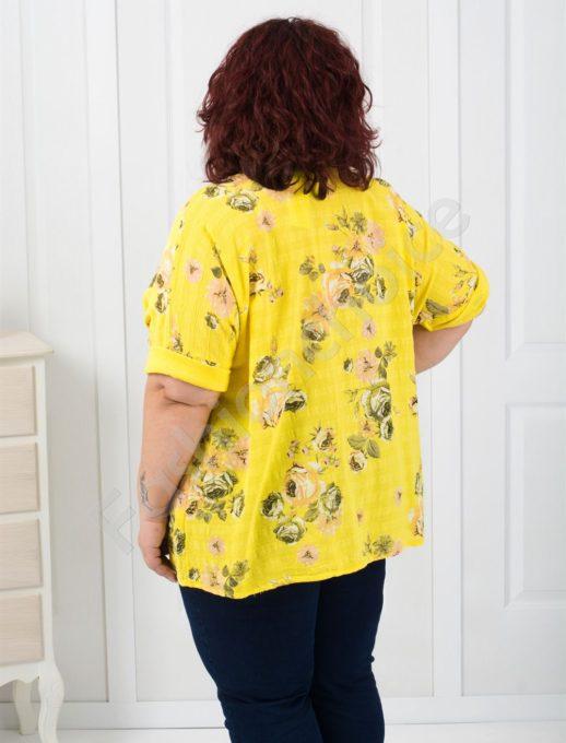 Дамска макси туника на цветя с джобчета/три цвята/-код 526-1