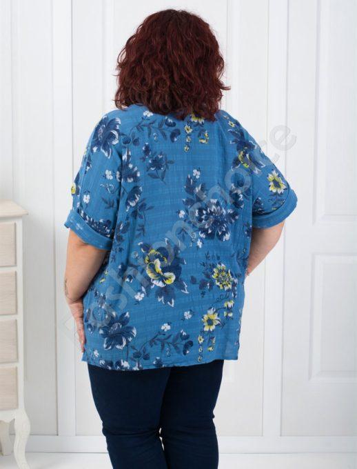 Дамска макси туника на цветя с джобчета/три цвята/-код 526