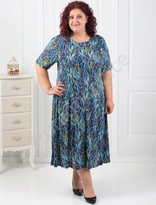 Дамска макси рокля в свежи цветове-код 507-6085