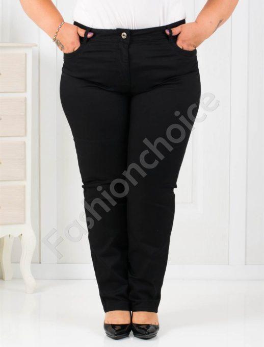 Дамски макси панталон в черно-код 753-210-1