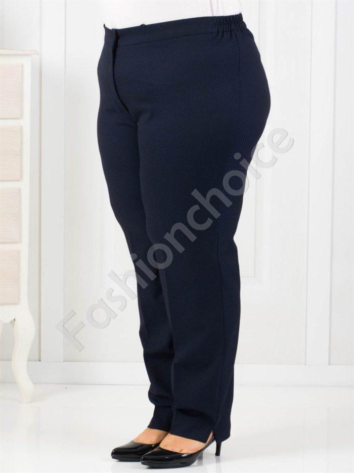 Чудесен макси панталон в приятен тъмно син десен-код 752-1