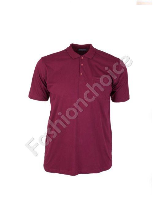 Мъжка макси блуза с якичка- код 731-7100-2