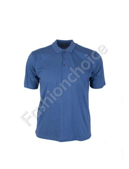 Мъжка макси блуза с якичка- код 731-7100-1