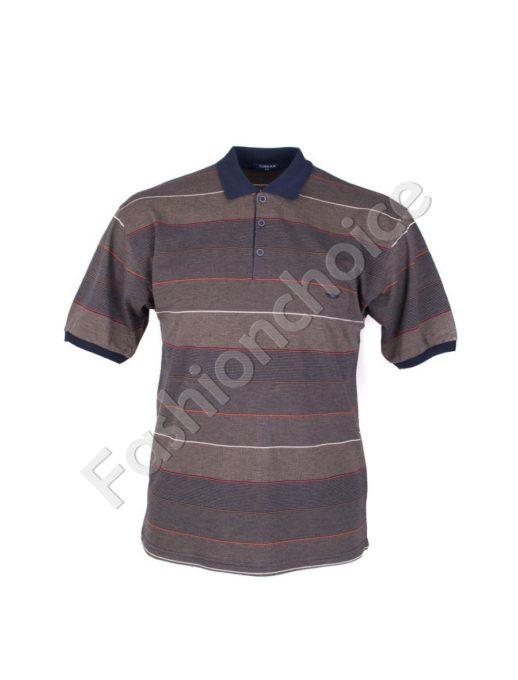 Мъжка макси блуза с якичка и копчета- код 734-8328-2