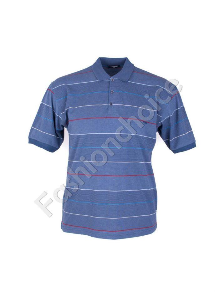 Мъжка макси блуза с якичка и копчета- код 734-8328-1