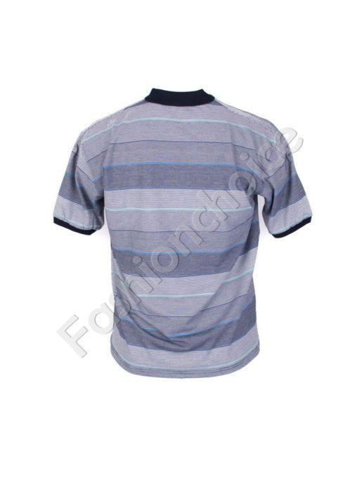 Мъжка макси блуза с якичка и копчета- код 734-8328-3