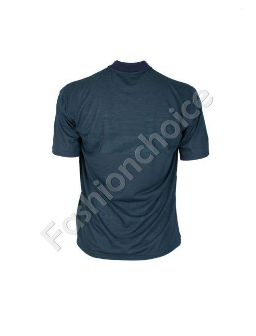 Мъжка макси блуза с якичка и райe- код 736-9055-1