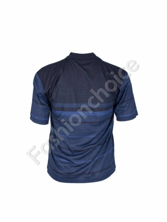 Мъжка макси блуза с якичка/3XL,4XL,5XL,6XL/-код 732-8307-1