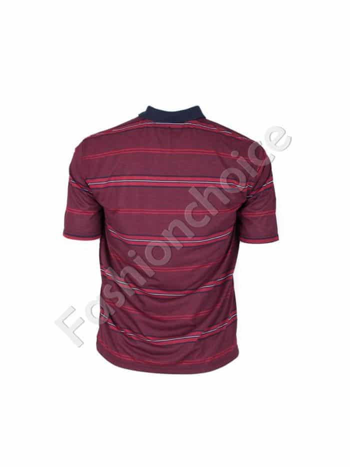 Мъжка блуза в цвят бордо/3XL,4XL,5XL,6XL/-код 735-9053-2