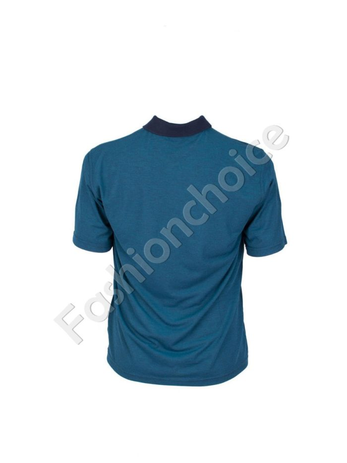 Мъжка макси блуза с якичка- код 737-9056