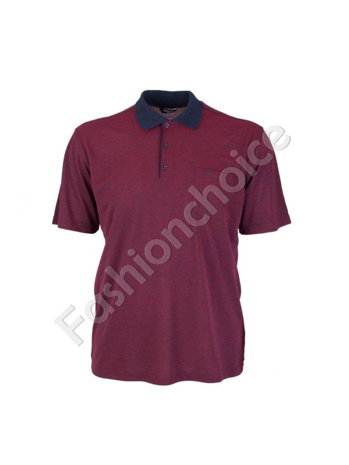 Мъжка макси блуза с якичка- код 738-9092-1