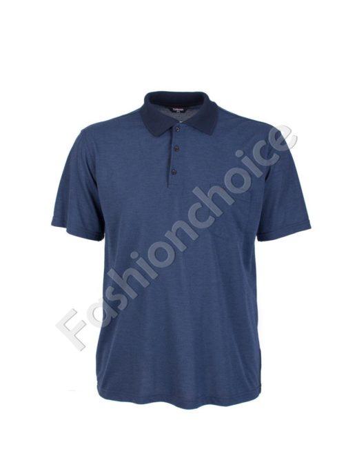 Мъжка макси блуза с якичка- код 738-9092