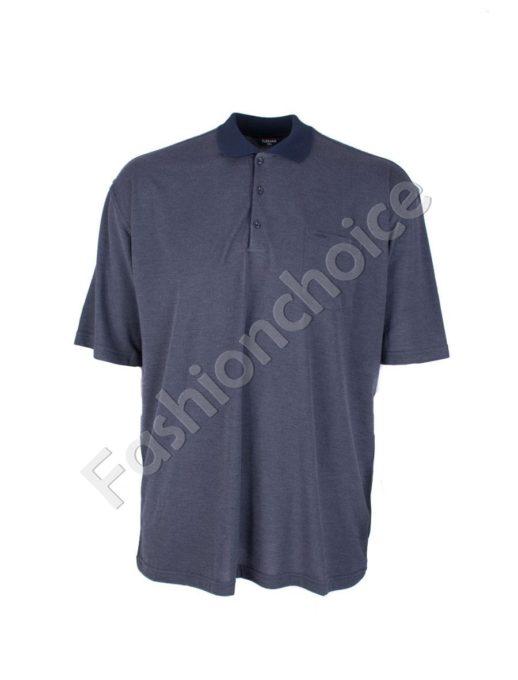 Мъжка макси блуза с якичка- код 738-9092-2
