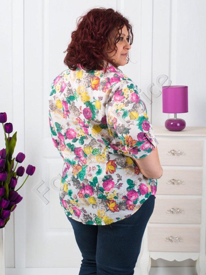 Дамска риза на цветя макси размери/52-60/-код 704-8