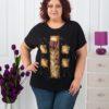 Дамска макси блуза с красива цветна щампа-код 763-1585