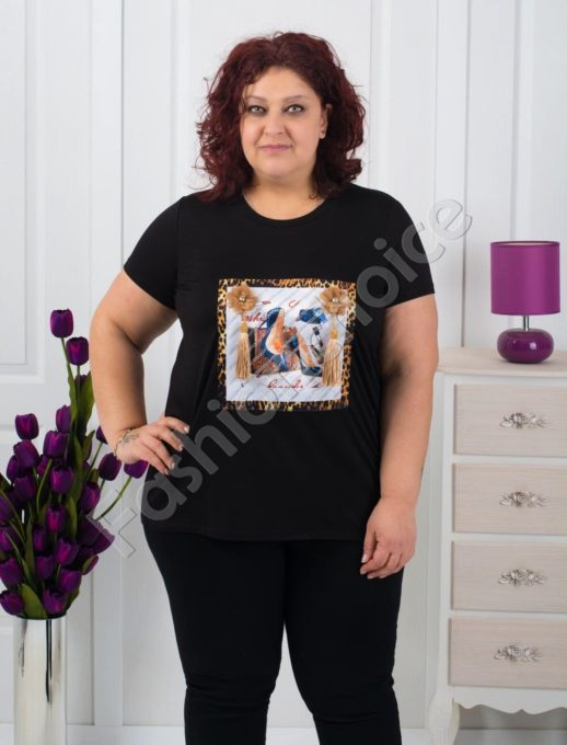 Макси блуза с интересна декорация-код 711-3