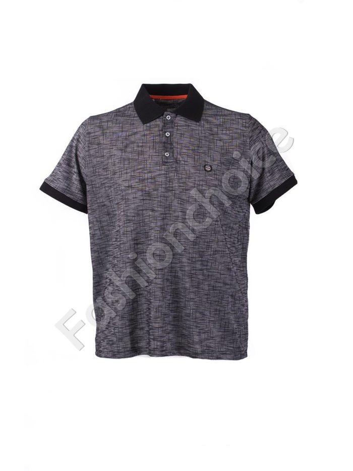 Макси блуза с различна якичка и копченца-код 769-19424