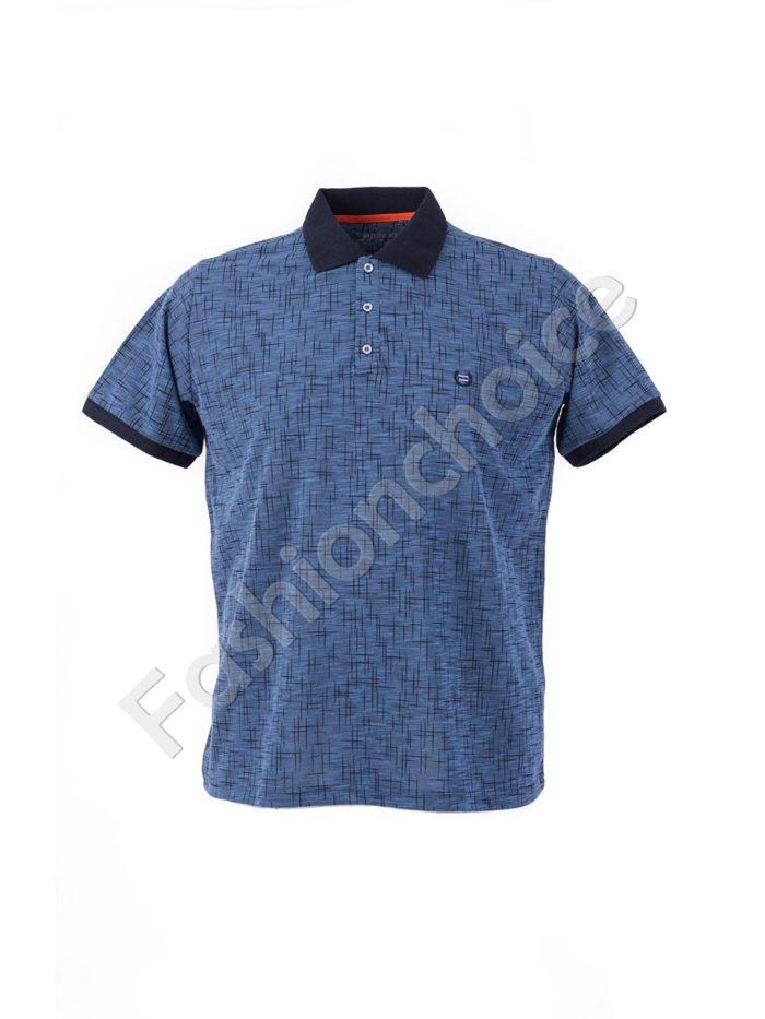 Мъжка блуза с якичка и копченца/размери 3XL-10XL/-код 769-19424-1