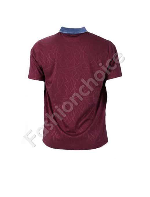 Мъжка блуза с дънкова якичка/3XL-10XL/-код 768-19421