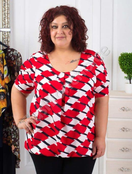 Прекрасна дамска макси блуза с красиви фигури- код 1989-2