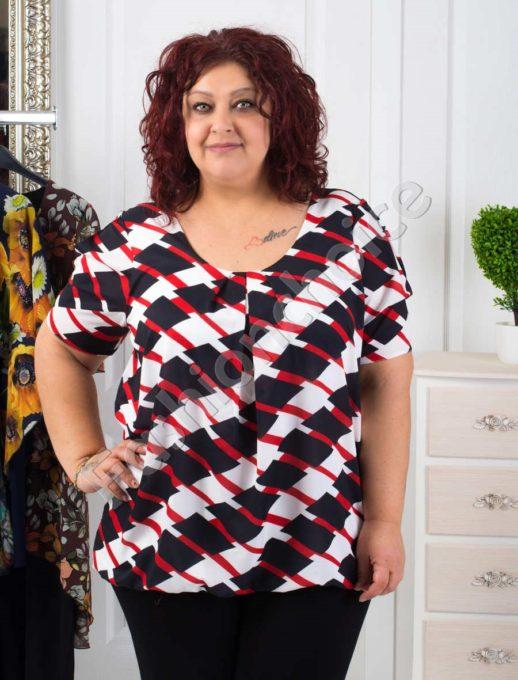 Прекрасна дамска макси блуза с красиви фигури- код 1989-3