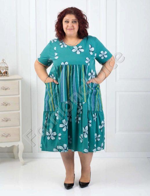Разкошна цветна макси рокля-код 534-19598