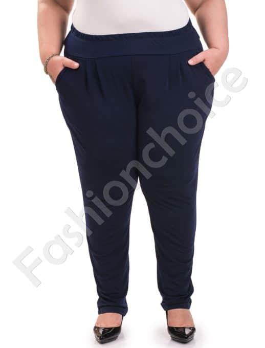 Елегантен дамски макси тънък панталон /4XL, 5XL,6XL/