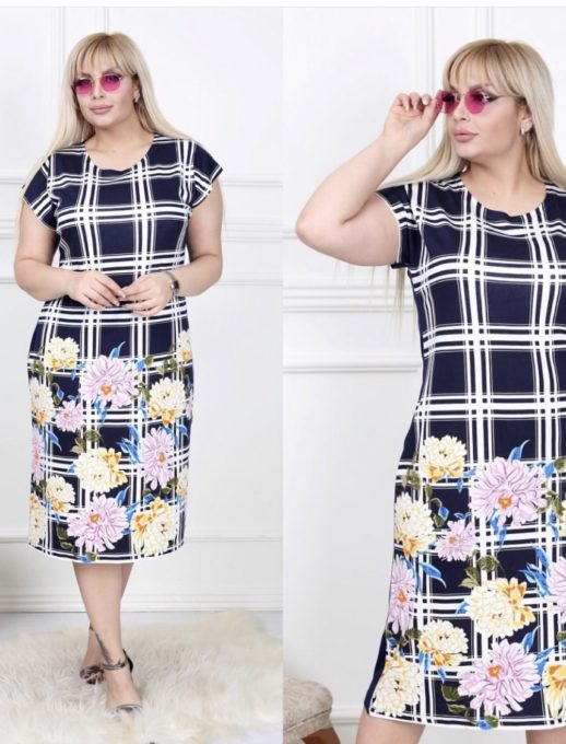 Удивителна дамска макси рокля/2XL,3XL,4XL/-код 741-4
