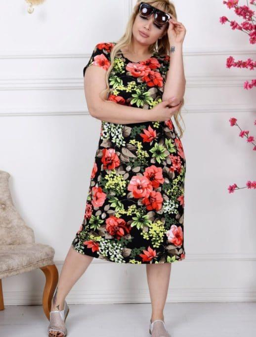 Красива дамска рокля макси размери/2XL,3XL,4XL/-код 741-8