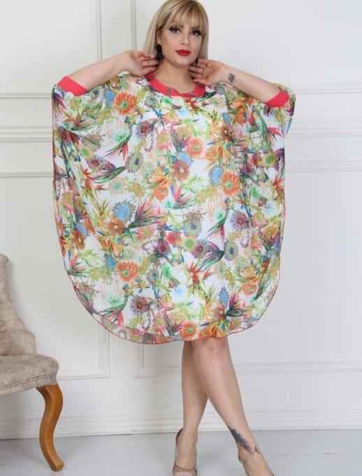 Шикозна макси рокля тип пончо-код 740-13